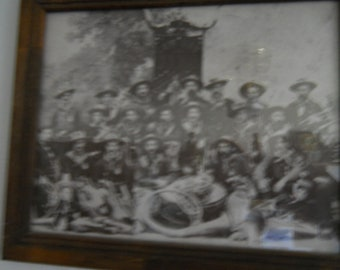 Vintage Military Photo of Pre 1900 Soldiers Framed