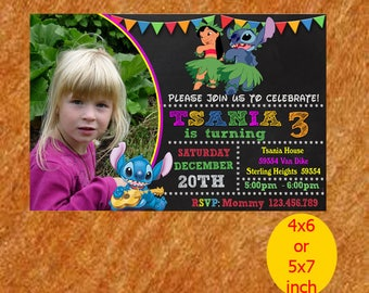Stitch Birthday Invitation, Stitch Invitation, Stitch Birthday, Stitch Party, Stitch Printable, Instant Download