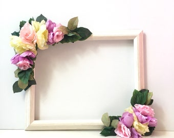 Selfie Station Frame; Selfie Frame; Photo Prop Frame; Floral Selfie Frame; Selfie Props; Bachelorette Party Photobooth Frame; Photo Prop