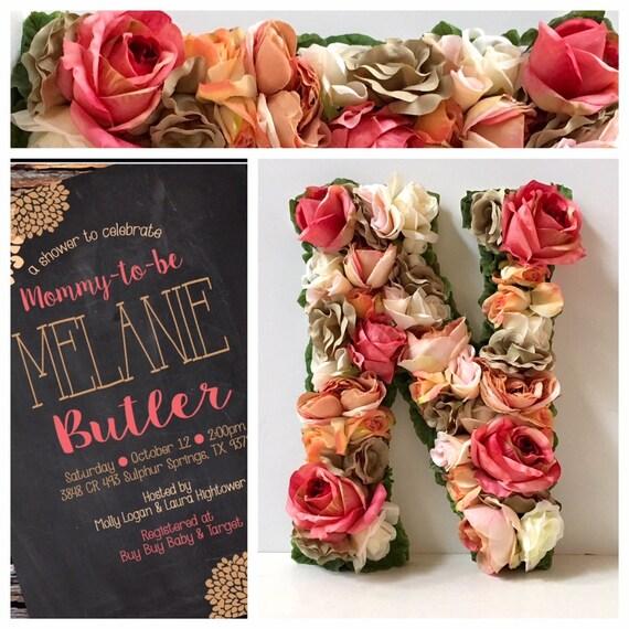 Flower Letters Wedding Floral Letter Hanging Letters For Etsy