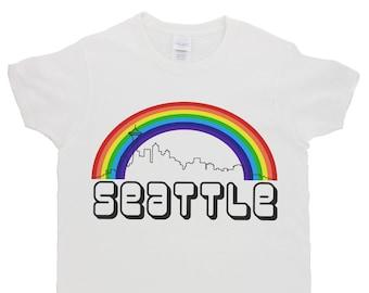 5b55b0f1d4df59 Berlin Rainbow Skyline Plus Size Shirt White Shirt Gray