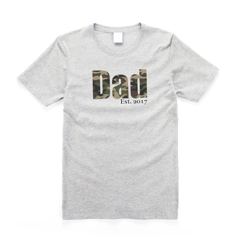 c6b636c2 Camo Dad Est. Date Shirt Custom Date Camo Men's   Etsy