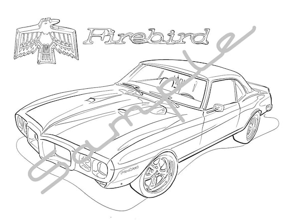 1969 pontiac firebird adult coloring page printable coloring