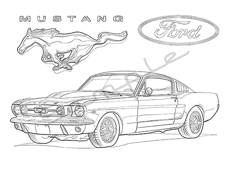 Muscle Cars of the 60s and 70s Vol.1 Adult Coloring Book ...