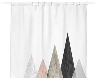 Rose Peaks Modern Shower Curtain