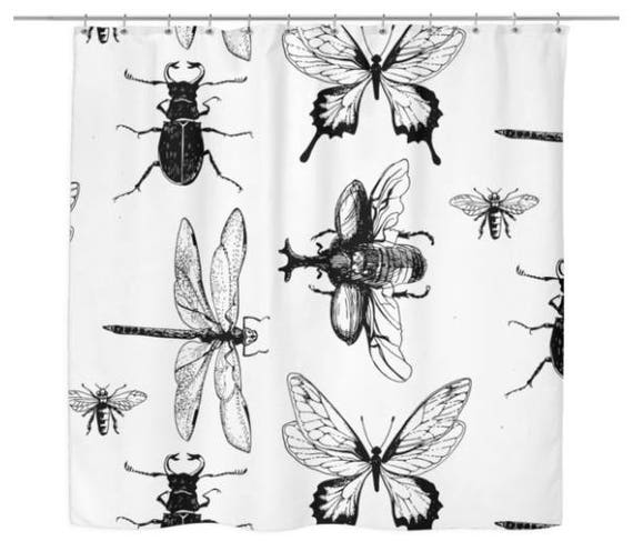 Insect Bug Creepy Crawler Shower Curtain