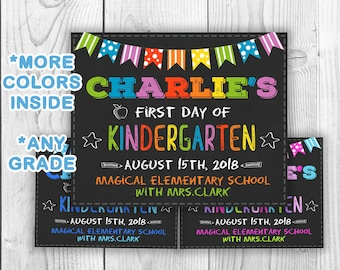 First day of school chalkboard printable, back to school, 1st day of school, Back to school chalkboard sign, Back to school chalkboard