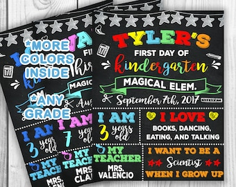 First day of school chalkboard printable, back to school sign, 1st day of school, Back to school chalkboard sign, Back to school chalkboard