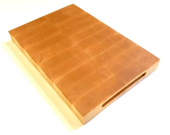 Premium end grain maple cutting board