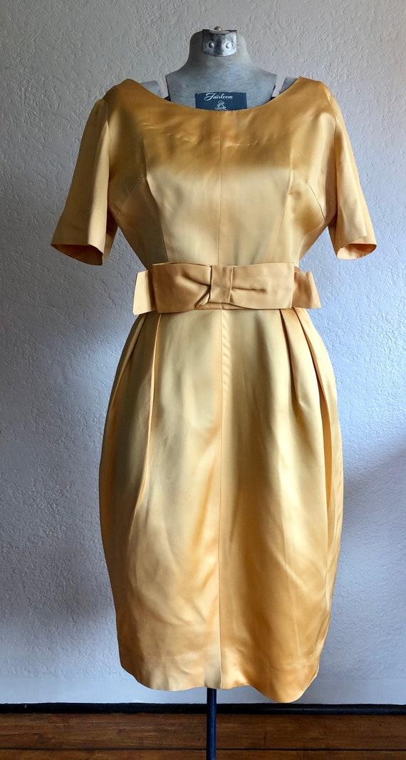 Vintage Satin Cocktail Dress