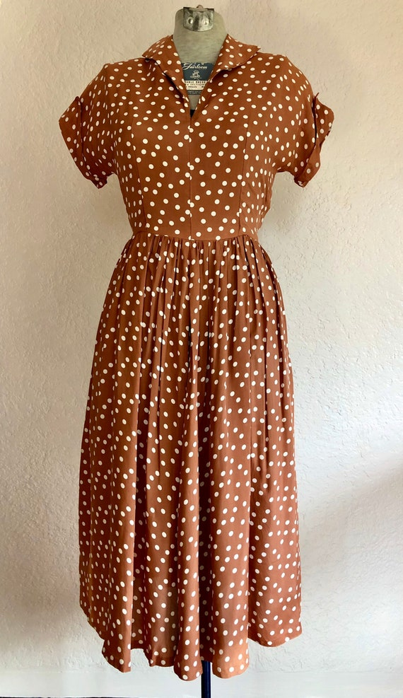 1940's Cold Rayon Day Dress