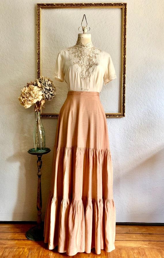 Vintage 1940s Tiered Skirt