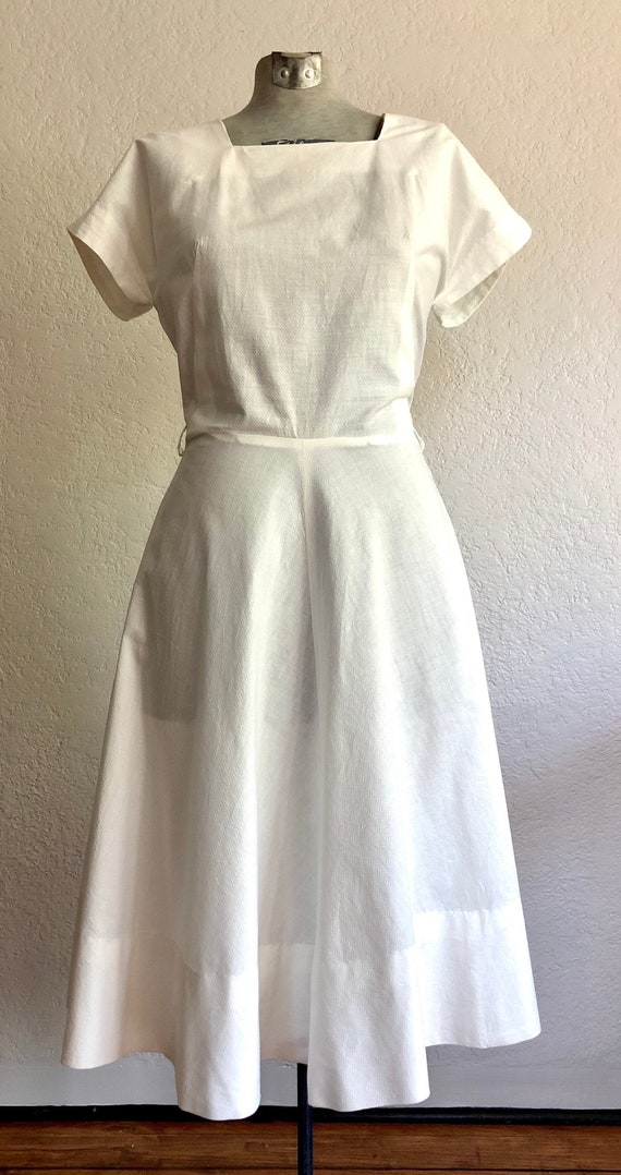 Vintage 1940's Cotton Day dress