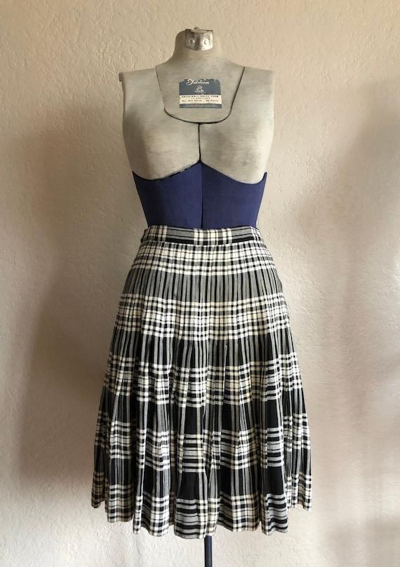 Vintage 1940s Plaid Skirt