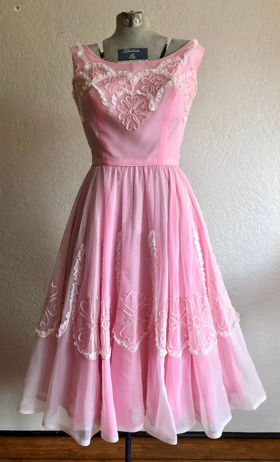 1950's Pink Cocktail Dress