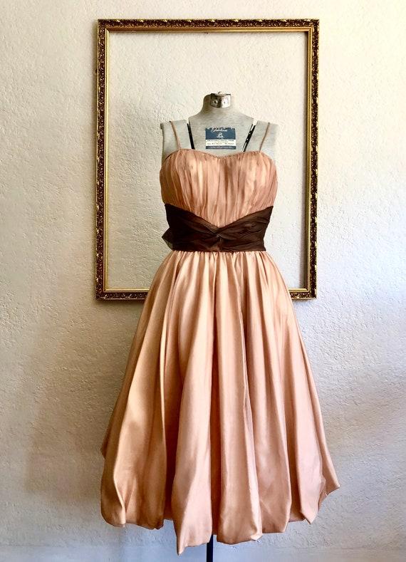 Vintage 1950's Silk Organza Gown