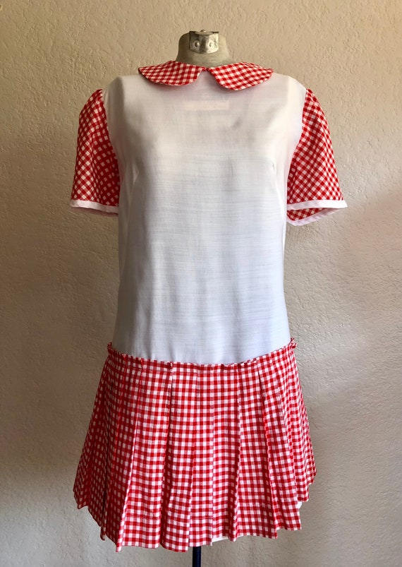 Vintage Gingham Summer Dress