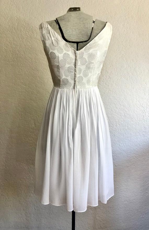 Vintage 1950's Chiffon Cocktail Dress - image 3
