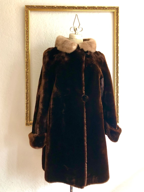 Vintage 1950s Hudson Bay Co Lambswool Coat