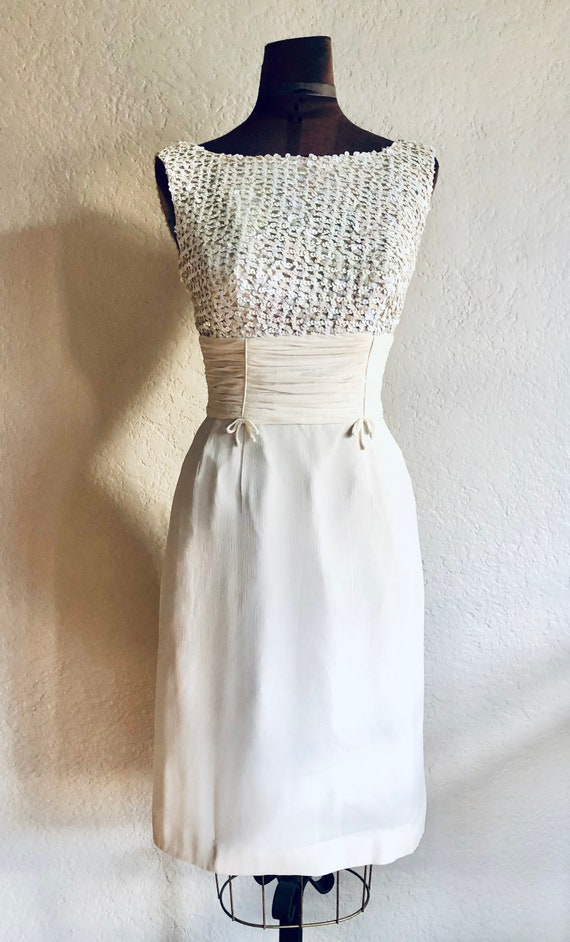 Vintage 1960s Sequin and Chiffon Dress