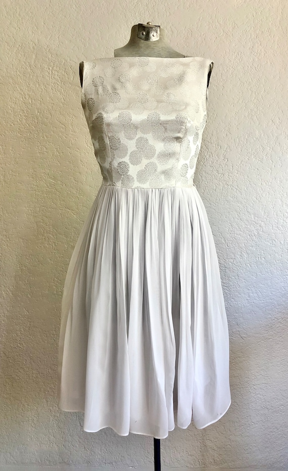 Vintage 1950's Chiffon Cocktail Dress