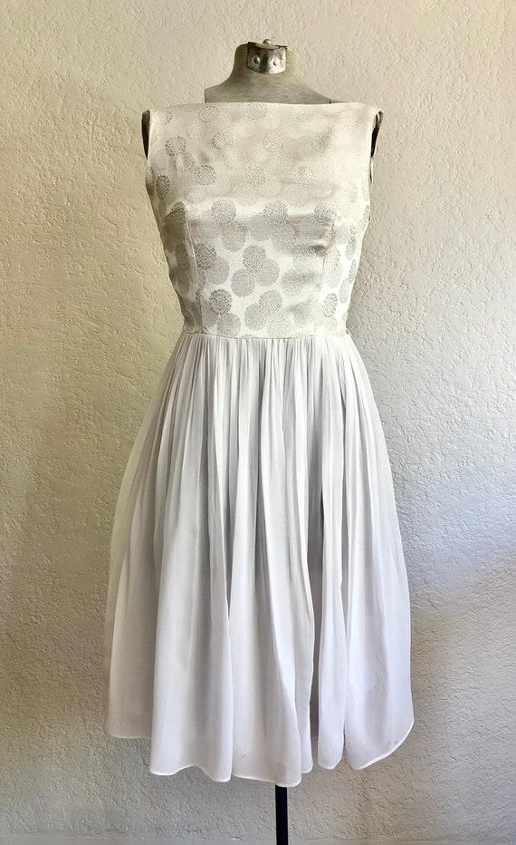 Vintage 1950's Chiffon Cocktail Dress - image 1