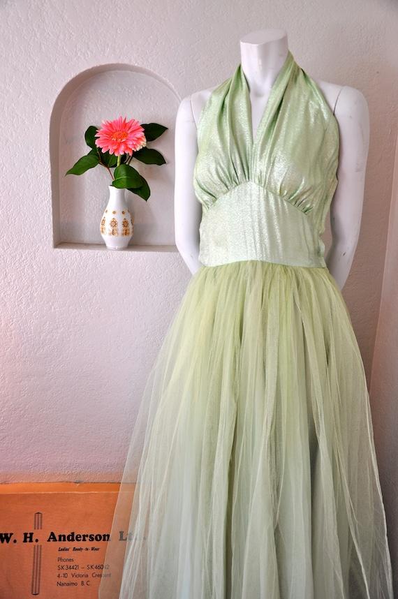 Vintage 1950's halter dress