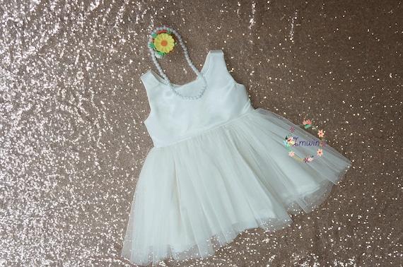 481c6f46ed138 Ivoire fleur fille robe fleur fille robe Tulle fleur fille