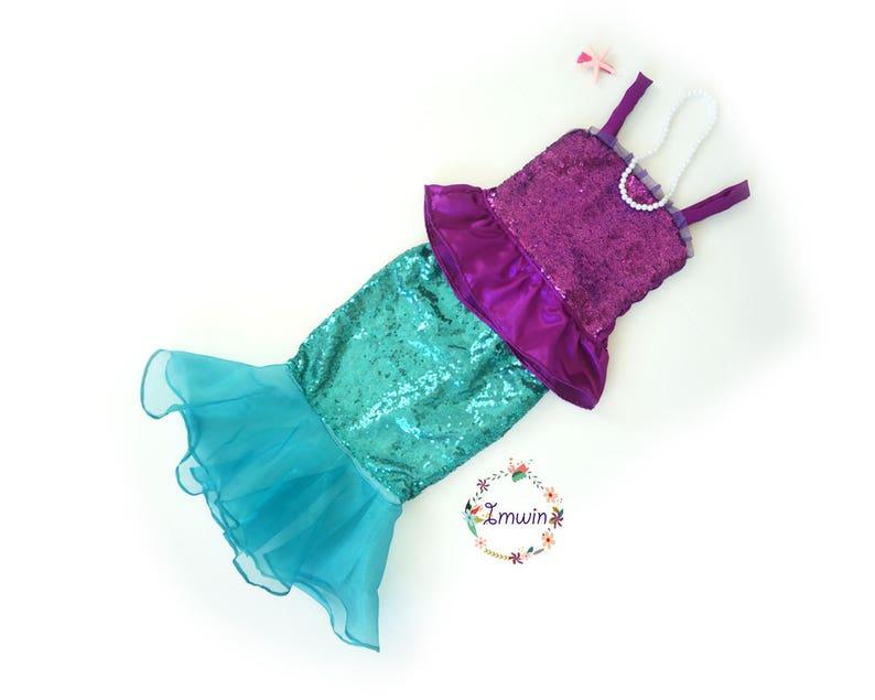 215c1b903ddb Girls Mermaid outfit Mermaid birthday outfit Mermaid costume | Etsy