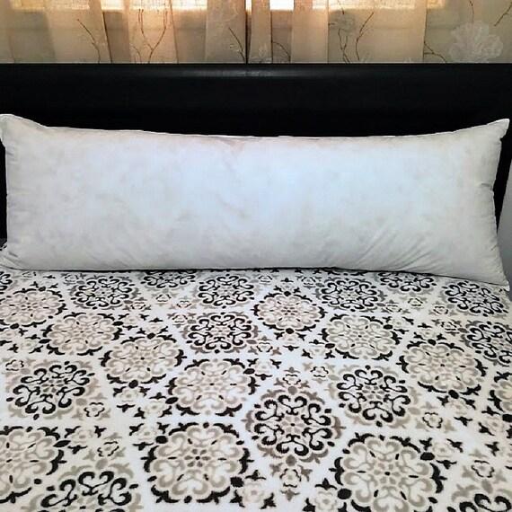 Body Pillow Insert Pillow Form Pillow Inserts Lumbar Pillow Etsy Simple Long Lumbar Pillow Insert
