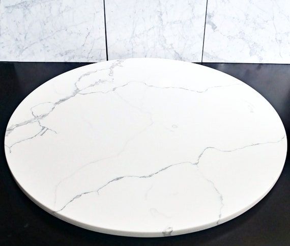 Large Marble Lazy Susan Turntable Large Lazy Susan Marble Etsy