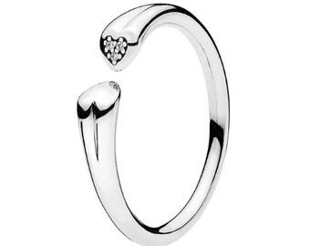 anello pandora con due cuoricini