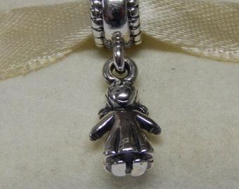 acbfdd353 Little Girl Dangle Charm 925 Sterling Silver Fit Pandora bracelet 790860