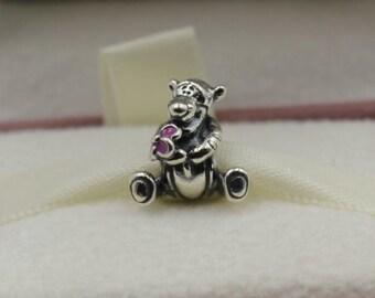 306fb5e6f Disney, Tigger, Pink Enamel Charm 925 Sterling Silver Fit Pandora bracelet  792135EN80