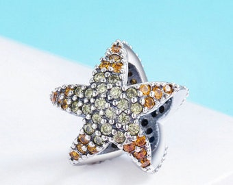 925 Sterling Silver Ocean Star Starfish Charm Fit Pandora bracelet