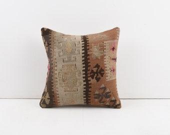 Cushion Cover Boho Aztec Tribal Print Pillow 12x24 Vintage Kilim Pillow Turkish Kilim Pillow Handwoven Kilim Lumbar Couch Accent Pillow