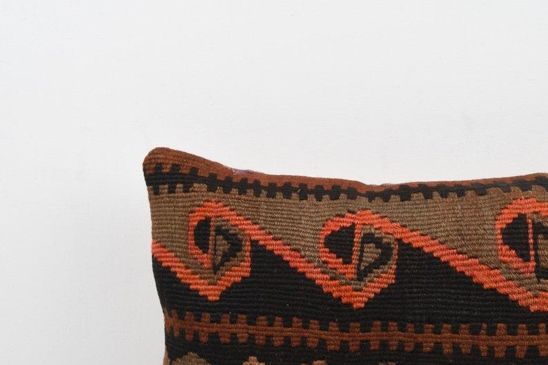 Ethnic Kilim Pillow Triba Pillow Home Decor Kilim Lumbar 12x20 Turkish Kilim Pillow Cushion Cover Boho Cover Decorative Throw Pillow