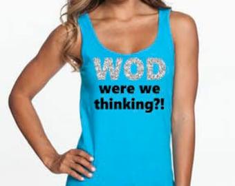 WOD were we thinking?! Glitter Tank Top