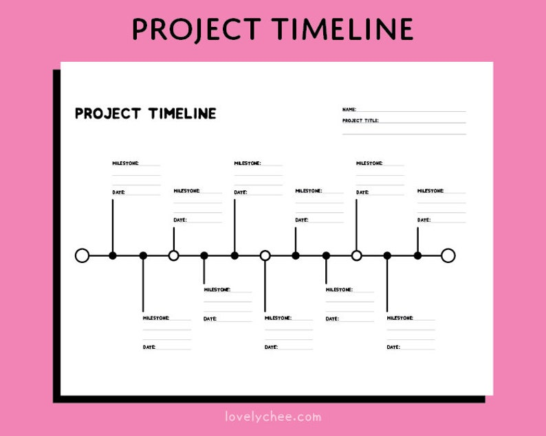 graphic regarding Printable Timeline Pdf known as Venture Timeline Printable PDF Undertaking Command