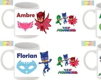 "Personalized mug ""pyjamasques"", children mug, birthday gift"