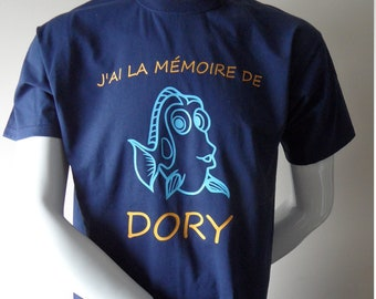 """Tee Men's shirt personalized """"my memory of Dory"""", funny mens t-shirt"""