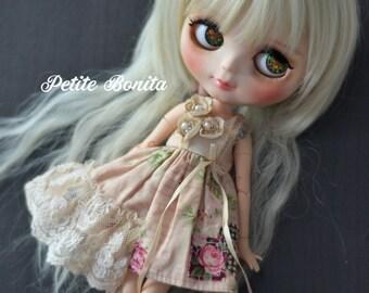 OOAK 3 Fleur Vintage Dress for Blythe (Limited Only 1)
