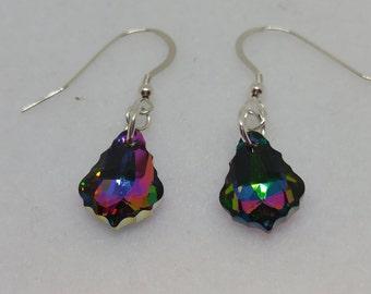 Sterling Silver Swarovski Baroque Electra Earrings