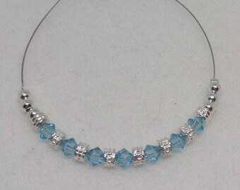 Light Turquoise Swarovski Crystal Anklet