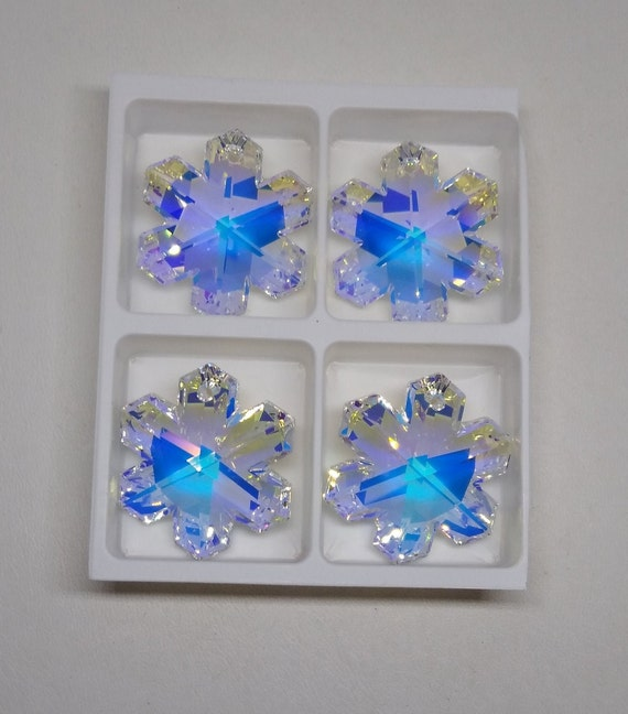 6pc Swarovski Crystal Clear AB 22mm Teardrop 6000 Pendant; Suncatcher; Bulk Lot