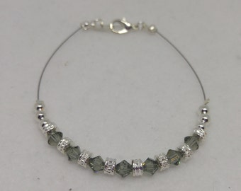 Swarovski Crystal Black Diamond Anklet