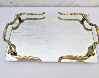 french antique tray vanity mirror 50s
