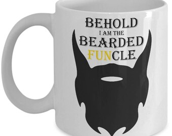 Bearded Funcle Mug - Behold I Am Cool Fun Uncle Gift Coffee Cup