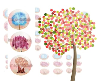 digital images to print 2 multicolored tree