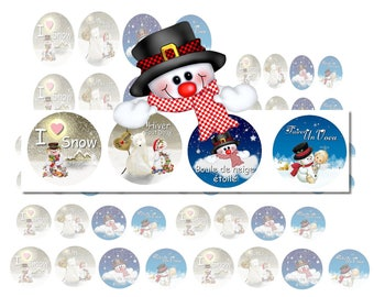 digital images to print snow snowman